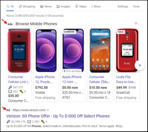 Ads in the SERPs